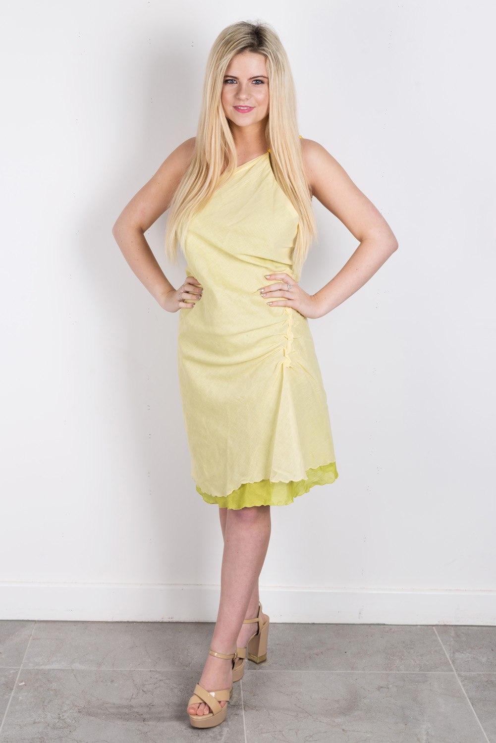 Bias cut layered dress perfect for festivals, beachwear and weddings